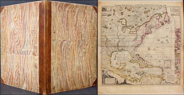 16-United States, North America and Atlases Map By Henry Popple
