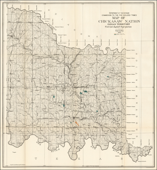 36-Plains, Oklahoma & Indian Territory and Southwest Map By United States Department of the In
