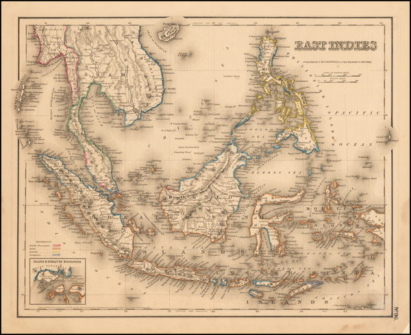 22-Southeast Asia, Philippines and Other Pacific Islands Map By Joseph Hutchins Colton