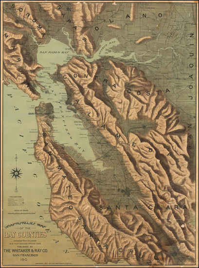 88-California and San Francisco Map By Whitaker & Ray Co.