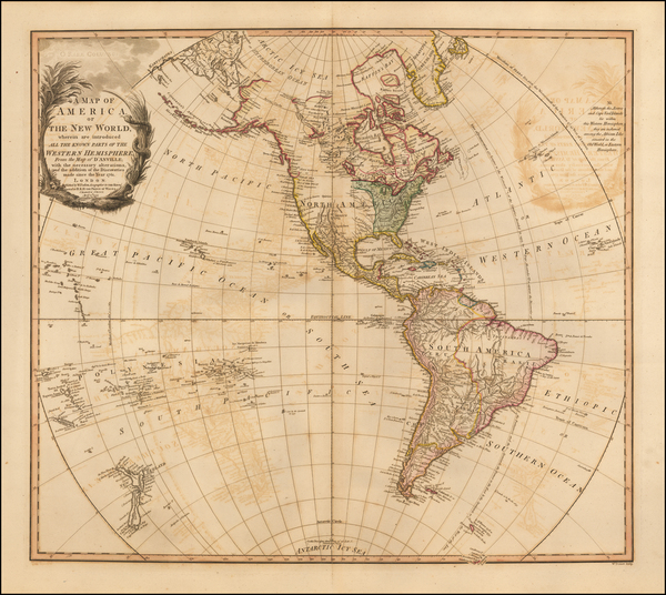 44-South America and America Map By William Faden