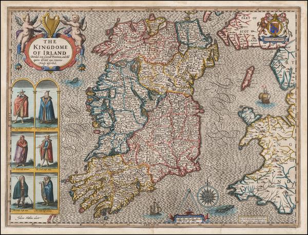 15-Ireland Map By John Speed