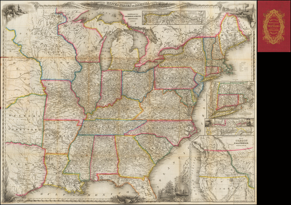 60-United States and Texas Map By Sherman & Smith