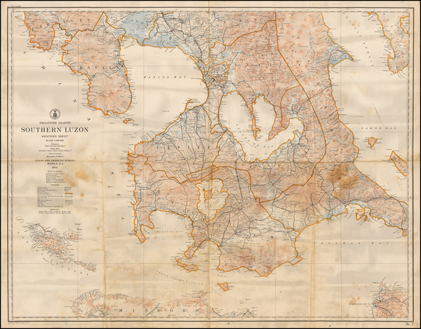 54-Philippines Map By U.S. Coast & Geodetic Survey