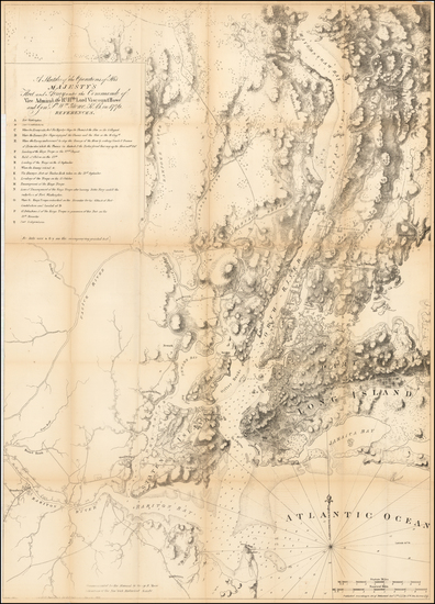 47-Mid-Atlantic Map By Valentine's Manual / Joseph Frederick Wallet Des Barres
