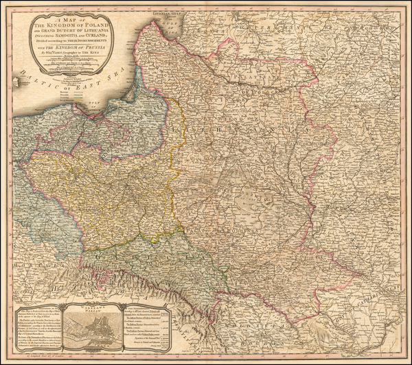 84-Poland Map By William Faden