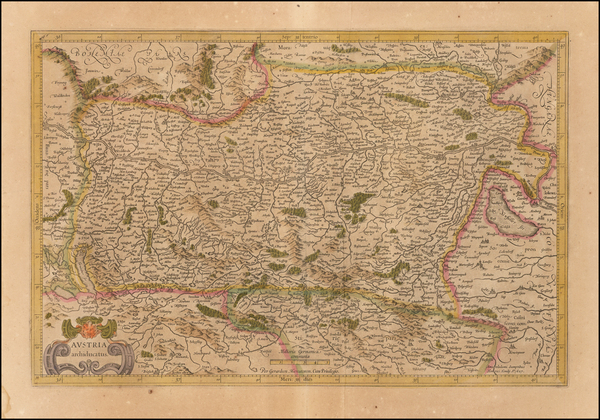 9-Austria Map By  Gerard Mercator
