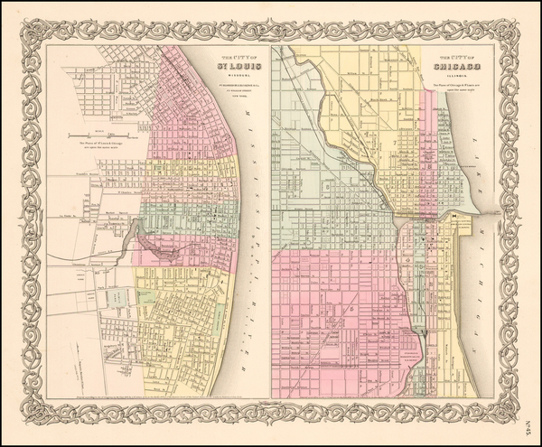 61-Midwest and Illinois Map By Joseph Hutchins Colton