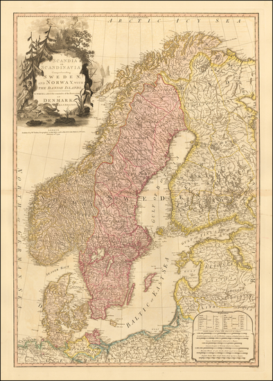 34-Baltic Countries and Scandinavia Map By William Faden