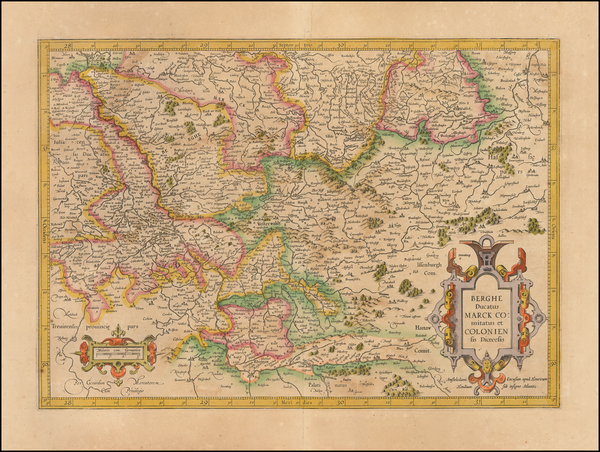 31-Germany Map By  Gerard Mercator