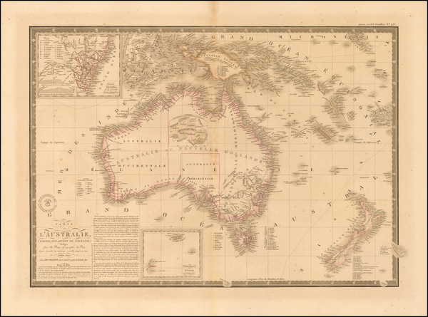 Australia & Oceania, Australia, Oceania, New Zealand and Other Pacific Islands Map By Alexandre Emile Lapie
