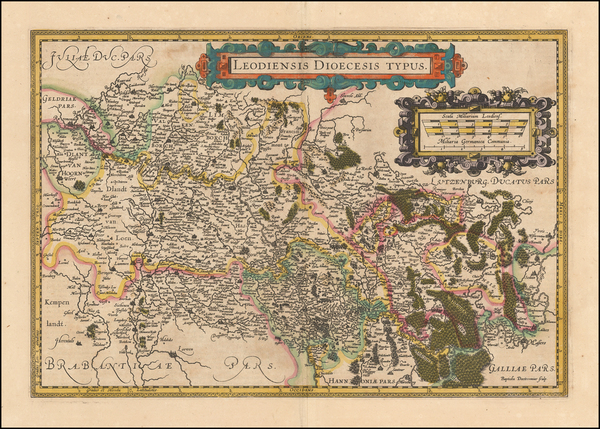 6-Belgium Map By Jodocus Hondius  &   Gerard Mercator