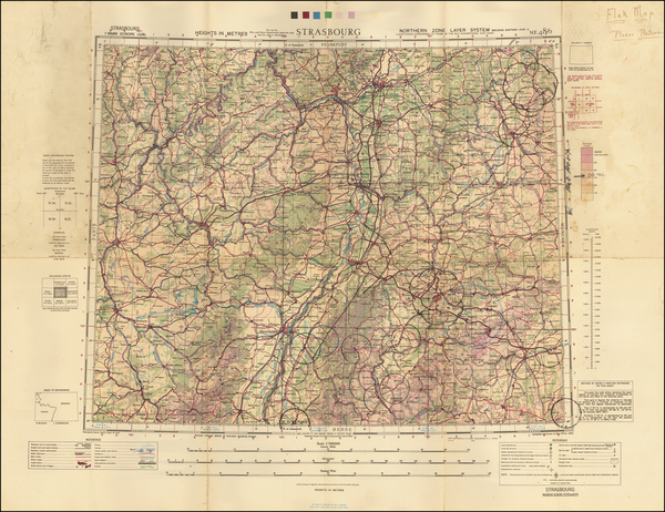 65-France and Germany Map By Geographical Section, War Office (UK)