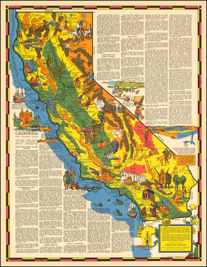 80-Pictorial Maps and California Map By R.T. Aitchison