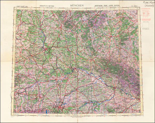 2-Germany Map By Geographical Section, War Office (UK)