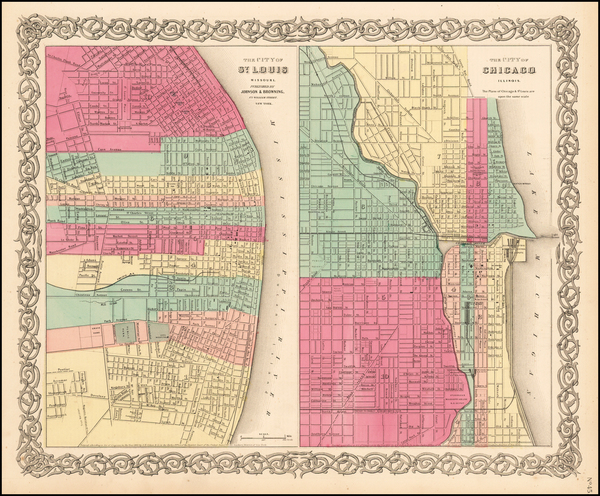 20-Midwest and Chicago Map By Joseph Hutchins Colton