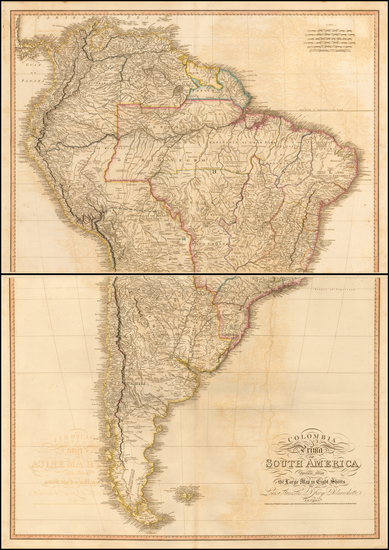 74-South America Map By William Faden