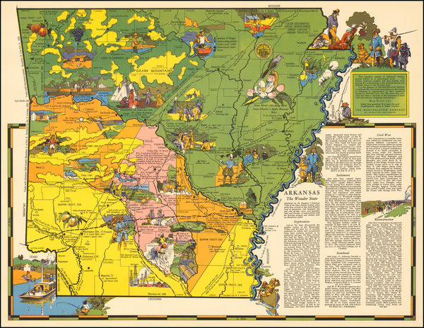 49-Arkansas Map By R.T. Aitchison