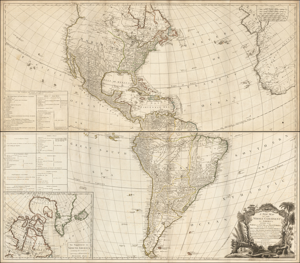 73-United States, North America, South America and America Map By Robert Sayer  &  Richard Ben