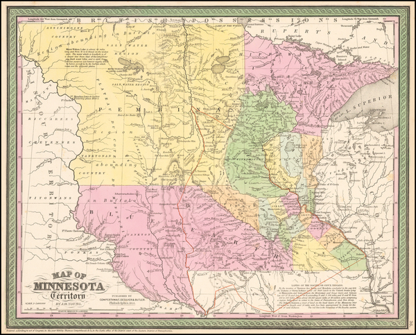 42-Midwest, Minnesota and Plains Map By Cowperthwait, Desilver & Butler