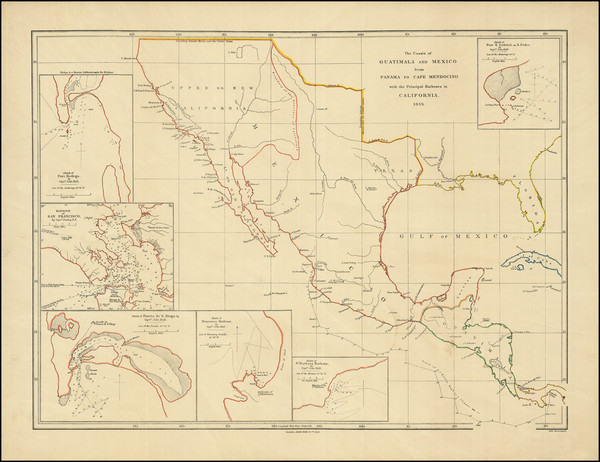60-Texas, Southwest, Mexico and California Map By John Arrowsmith