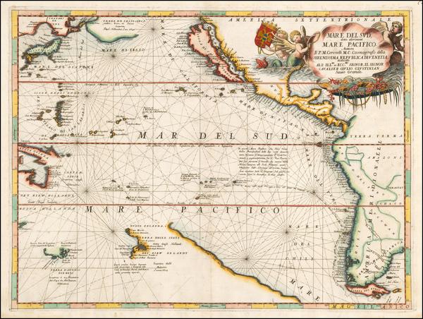 3-Australia & Oceania, Pacific, Australia, Oceania, New Zealand, Hawaii and California Map By
