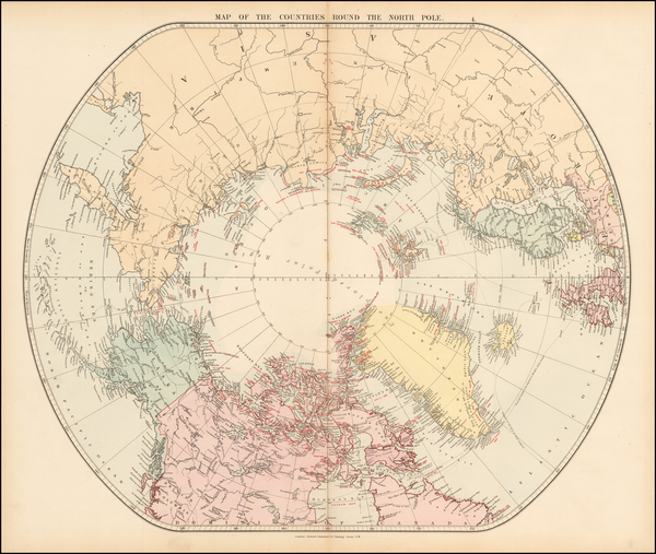 68-Polar Maps Map By Edward Stanford