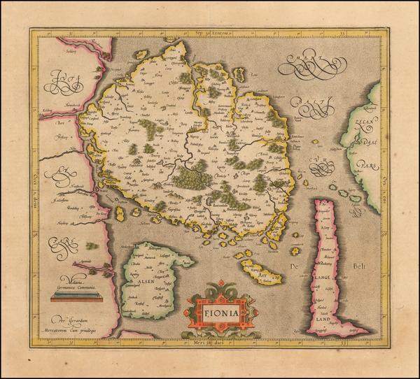 49-Denmark Map By Gerard Mercator