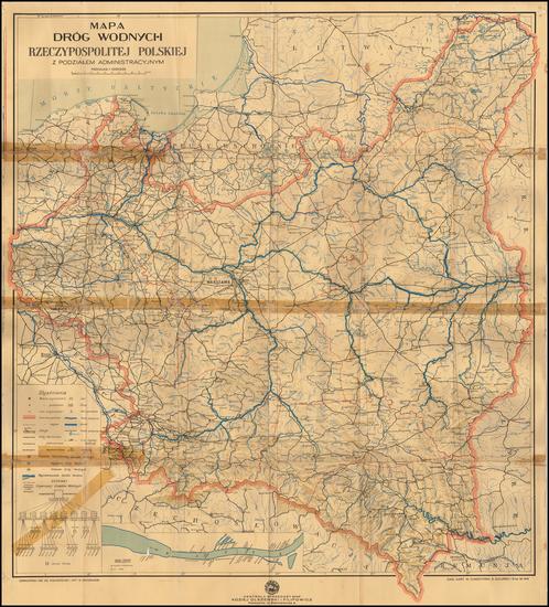 74-Poland Map By Centrala Sprzedazy Map Koziej ...