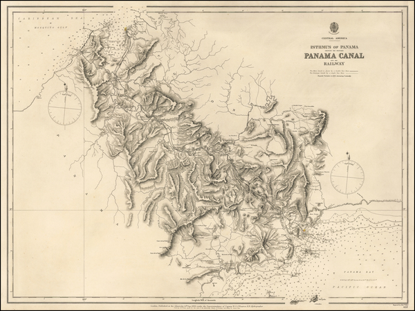 46-Central America Map By British Admiralty