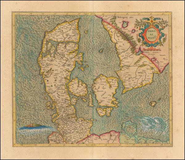 81-Scandinavia and Denmark Map By Gerhard Mercator