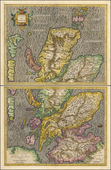 64-Scotland Map By  Gerard Mercator