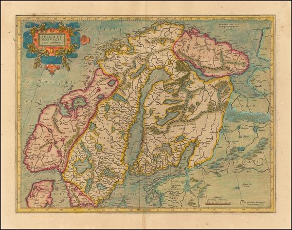 18-Scandinavia Map By Gerhard Mercator
