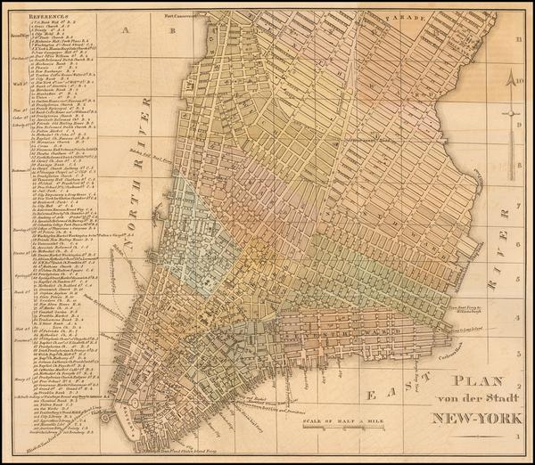 80-New York City Map By Wilhelm Hoffman