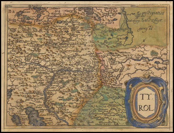 Austria and Italy Map By Johannes Matalius Metellus