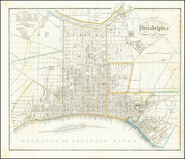 70-Pennsylvania and Philadelphia Map By Wilhelm Hoffman