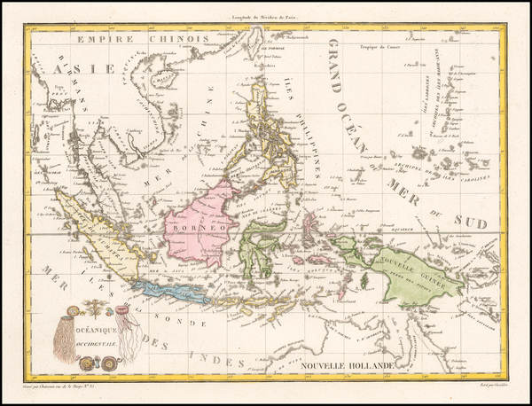 56-Southeast Asia, Philippines and Indonesia Map By Conrad Malte-Brun