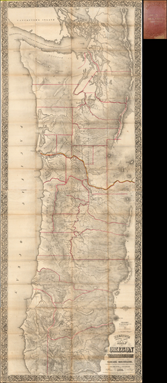 72-Oregon and Washington Map By Joseph William Trutch  &  G. W. Hyde