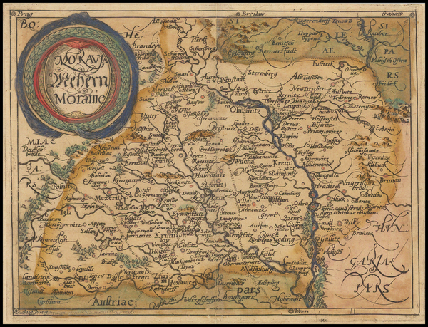 18-Czech Republic & Slovakia Map By Johannes Matalius Metellus