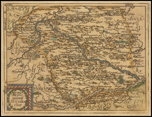 23-Austria Map By Johannes Matalius Metellus