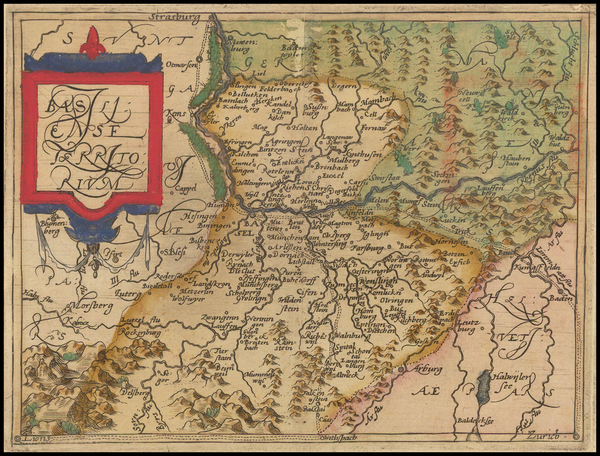 74-Switzerland Map By Johannes Matalius Metellus