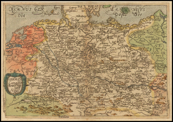 44-Netherlands, Germany and Czech Republic & Slovakia Map By Johannes Matalius Metellus