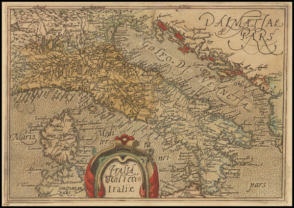 66-Italy Map By Johannes Matalius Metellus