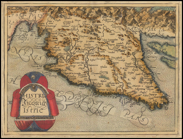 61-Balkans and Italy Map By Johannes Matalius Metellus