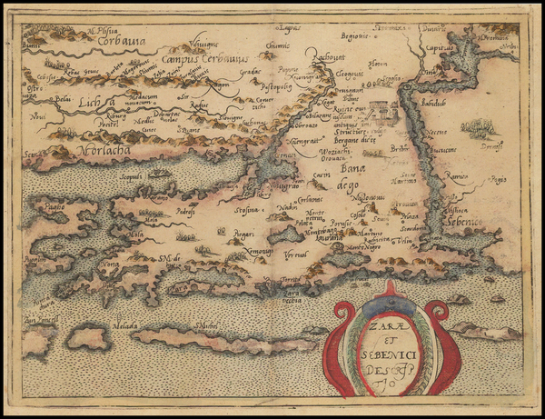 93-Balkans Map By Johannes Matalius Metellus