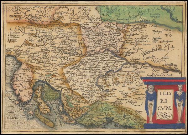 64-Balkans Map By Johannes Matalius Metellus
