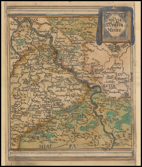 72-Germany Map By Johannes Matalius Metellus