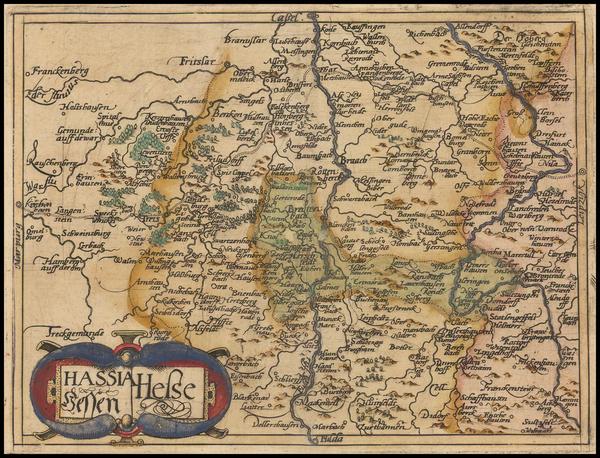 70-Germany Map By Johannes Matalius Metellus