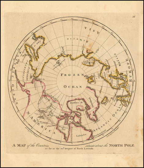 Polar Maps, Alaska and Canada Map By Matthew Carey