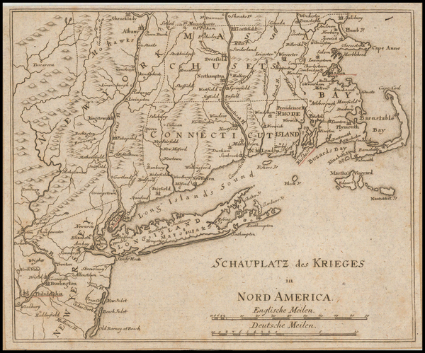 86-New England, New York State and American Revolution Map By Anonymous